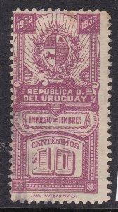 URUGUAY ^^^^^1933   BOB used   REVENUE   $$@ xdcc400uru