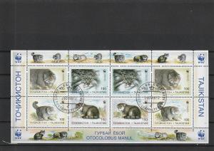 Tajikistan  Scott#  92-5  MNH  Sheetlet  (WWF)