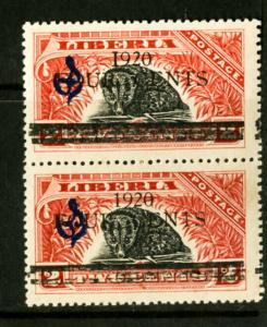 Liberia Stamps # CO112 NH ERROR I For I In Pair