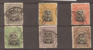 RHODESIA SG209/14 1913 ADMIRAL DIE I p14 (Ex 8d) USED