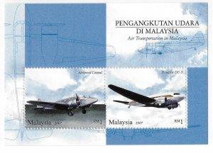 Malaysia 2007 Airplanes S/S Sc 1156 MNH Bo22