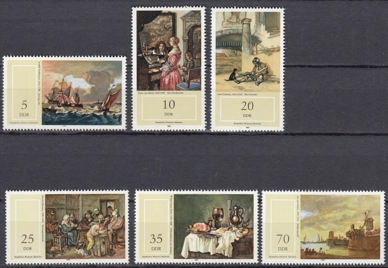 East Germany - 1982 Paintings Sc# 2284/2289 - MNH (365)