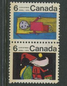 STAMP STATION PERTH Canada #524-528 Christmas 1970 MNH Pair CV$0.75