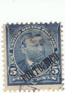Puerto Rico , Scott #212 - 5c Blue - Used