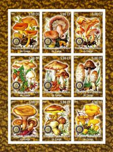 Mushrooms Funghi Rotary Emblem Sheet Imperforated Mint (NH)