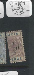 ST LUCIA  (P2705BB)  QV   1/2 D/6D        SG 59   MOG