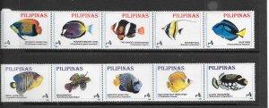 FISH - PHILIPPINES #2402-2f1  MNH
