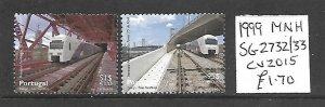 Portugal MNH 2732-3 Trains 1999