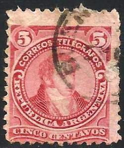 Argentina 1890 Scott# 77 Used