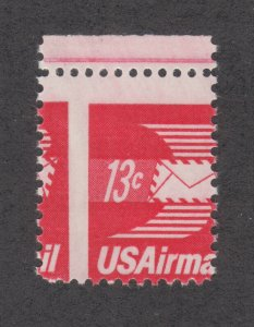 US Sc C79 MNH. 1973 13c Winged Airmail, 2-way MISPERF