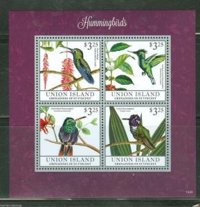 UNION  ISLAND 2013 HUMMINGBIRDS  SHEET I MINT NH