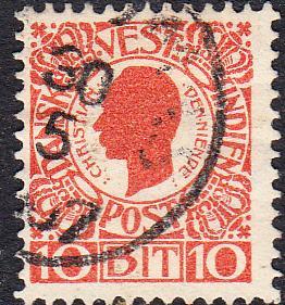 Danish West Indies #32    Used
