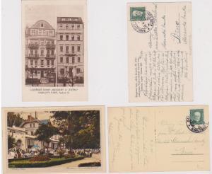 Czechoslovakia Two 1931 Postcards with KARLOVY VARY CDS Scenes of City