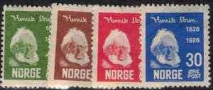 Norway Scott #132-35 MH Complete Set of 4