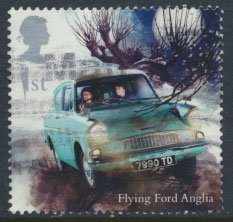 Great Britain SG 4144 Sc# 3783  Used  Harry Potter Flying Ford Anglia