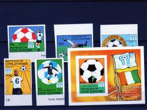 Ivory Coast 1978 World Cup Argentina Set(5)+SS Imperf.#466/1
