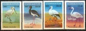2003 Uzbekistan 523-526 Birds 5,00 €
