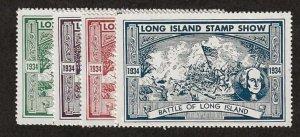 1934 Long Island Stamp Show  MNH Set/4