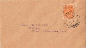 Falkland Islands 1919 KGV 6d Brown-Orange Cover South Shetlands to Kent