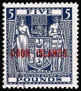 Cook Islands Scott 126C Variety Gibbons 136w Used Stamp
