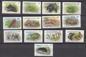 J28381, various 1987-89 christmas island part of set mnh wildlife #198//210