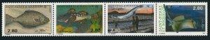 St Pierre & Miquelon 592 ad strip,MNH.Michel 658-661. Fish,1993.