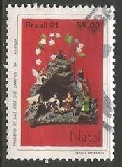 BRAZIL 1771 VFU CHRISTMAS 228A-3