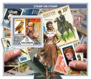Solomon Islands - 2017 Stamps on Stamps - Souvenir Sheet - SLM17311b