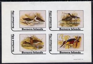 Bernera 1981 Birds #05 (3 Waders & Kingfisher) imperf...