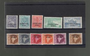 India SCOTT #1-12 INTERNATIONAL COMMISSION IN CAMBODIA MH stamp set