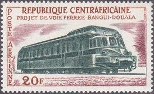Central African Republic # C13 mnh ~ 20fr Locomotive