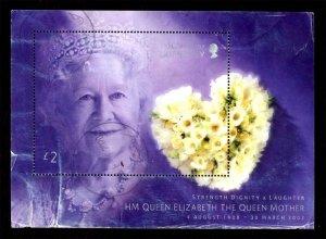 Guernsey 2002 Queen Mother Elizabeth, Flowers S/S £2 Scott.783 Used