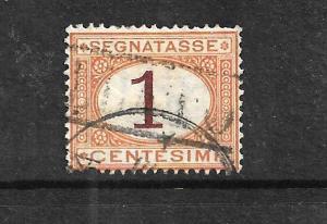 ITALY 1870-25  1c   POSTAGE DUE  FU  SG D22