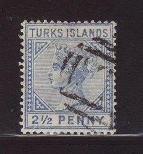 1893 Turks Is 2½d Wmk Crown CA Fine Used SG65
