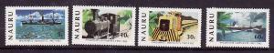 Nauru-Sc#252-5-Unused NH set-Freighter-Ships-Trains-Phosphate-1982-