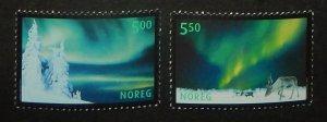 Norway 1318-19. 2001 Aurora Borealis, NH