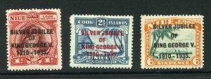 Niue SG69/71 1935 Silver Jubilee Set M/M