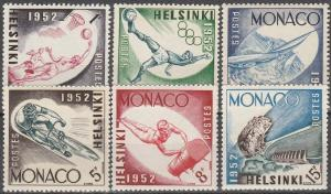Monaco #295-300 F-VF Unused CV $5.15 (SU2865)
