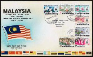 Malaysia - Sabah 1965 Flowers in Natural Colours FDC