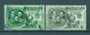 Colombia sc# 676-677 used cat value $.50
