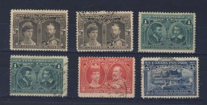 6x Canada 1908 Quebec Stamps 2 of each #96-97-98 Guide Value = $120.00