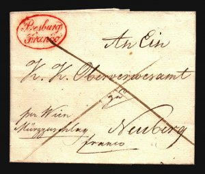 Germany 1834 Stampless Cover Nurnberg - Z17059