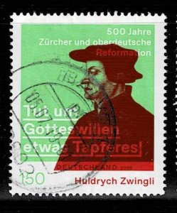 Michel# 3464 used,500th Anniversary of Huldrych Zwingli's Reformation