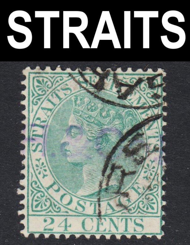 Malaya Straits Settlements Scott 54 wtmk CA VF used.