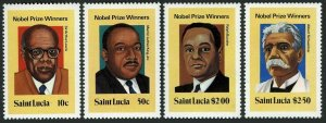 St Lucia 526-529,hinged.Mi 494-497.Nobel Prize winners,1980.Arthur Lewis