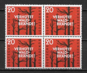Germany 782 Prevent Forest Fires Block of 4 MNH