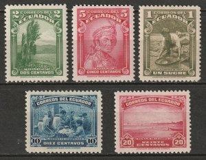 Ecuador 1937 Sc 361-5 set MH*
