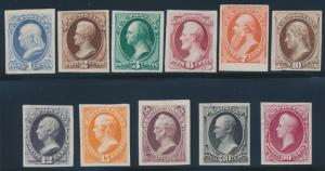 #145P3 // #155P3 (11) DIFF PLATE PROOFS ON INDIA PAPER SCARCE HV7460