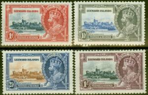 Leeward Islands 1935 Jubilee set of 4 SG88-91 Fine Mtd Mint