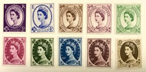 Great Britain 297//369p MLH QEII Unchecked for Watermarks or Phosphorescence